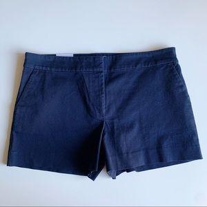 """LOFT NWOT Riviera Shorts Navy Size 12 4"""" Inseam"""
